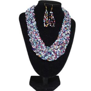 Collar Y Aretes Mostacilla-BIS-083