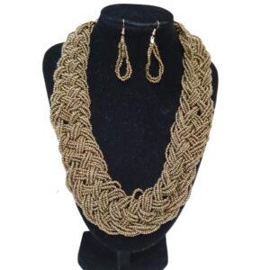Collar Y Aretes Mostacilla-BIS-096