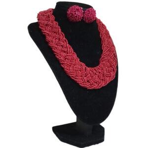 Collar Y Aretes Topo Mostacilla-BIS-101