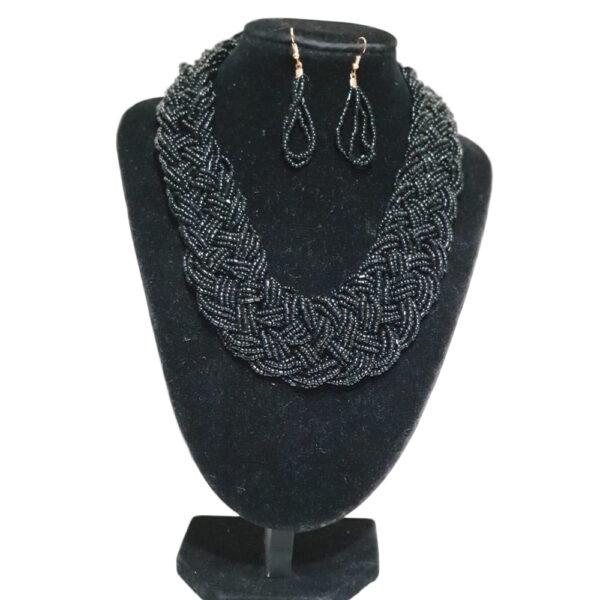 Collar Y Aretes Mostacilla-BIS-104