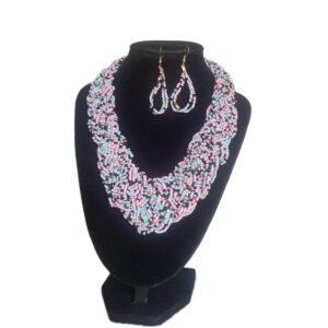 Collar Y Aretes Mostacilla-BIS-121