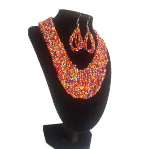 Collar Y Aretes Mostacilla-BIS-123