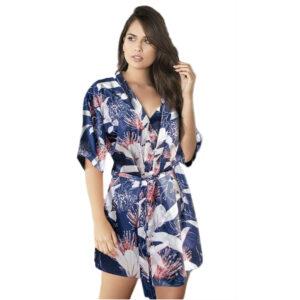 Kimono y Pijama Short Colección Florez Coral