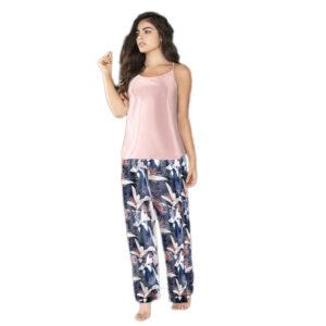Pijama Pantalon Largo Colección Flores Coral