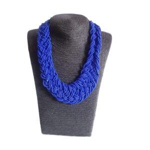 Collar Mostacillas Azul 149